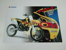 Prospectus Catalogue Brochure Moto Suzuki RM Gamme 1999 English