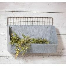 Farmhouse new tin Kitchen wall shelf in weathered zinc finish