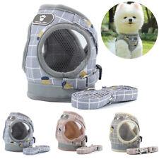 No-pull Dog Harness and Lead Reflective Adjustable Small Medium Mesh Pet Vest
