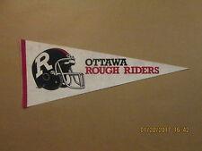CFL Ottawa Rough Riders Vintage Black Helmet 2 Bar Facemask Football Pennant