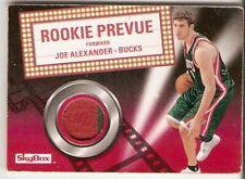 JOE ALEXANDER RED PATCH SERIAL #/10 2008-09 SKYBOX ROOKIE PREVUE BUCKS JERSEY SP