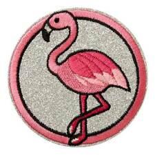 +Aufbügler + Bügelmotiv+ Applikation Patch+Flamingo rosa + Aufnäher +NEU+