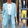 Women's Long Sleeve Slim Blazer Work Jacket Formal Suit Ladies Solid Collar Coat