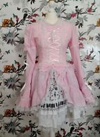 *Gothic Lolita & Punk* Pink Lolita Sissy Kawaii Dress Size M fits 10