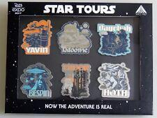 Esz830. Disney D23 2017 Expo Limited Edition Star Wars Star Tours 6 Pin Box Set