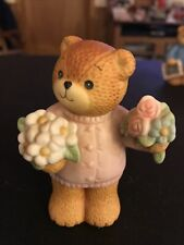 Lucy & Me Bear With Bouquets of Flowers Lucy Rigg Enesco 1985