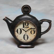 Reloj De Pared Quirky Tetera Negro Estilo Vintage Antiguo-Nuevo