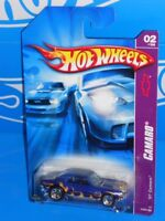 Hot Wheels 2007 Camaro Series #42 '67 Camaro Blue w/ Flames & 5SPs