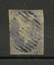 CEYLON QUEEN VICTORIA 1857 STAMP ONE SHILLING SLATE-VIOLET, IMPERFORATE RARE!
