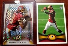 ROBERT GRIFFIN III RC 2012 TOPPS PLATINUM XFRACTOR AND TOPPS RCS-REDSKINS QB RC