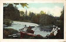 Dublin Lucan view of River Liffey postcard