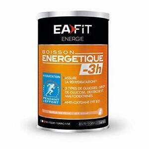 EAFIT Boisson Energétique -3H - 500 g - Thé Pêche - Energie - Endurance - Hyd...
