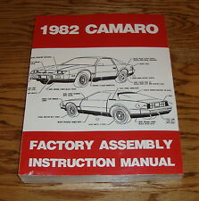 1982 Chevrolet Camaro Factory Assembly Instruction Manual 82 Chevy