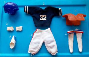 """1975 OJ SIMPSON 10"""" shindana FOOTBALL figure -- Head Shirt Pants Shoes Socks"""