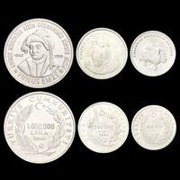 [T-1] Turkey Set 3 Coins, 500000 750000 1000000 Lira, 2002, UNC