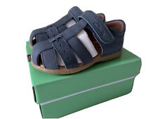 Boys Clarks Navy Leather Sandals - Size 22. Excellent Condition With Box.