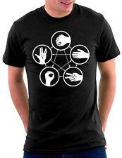 The Big Bang Theory Papier Stein Schere Echse Spock T-shirt