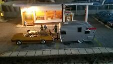 SLOT CAR  AURORA TJET chassis with metal body and trailer