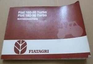 Fiat Schlepper F160-90 + F160-90 (DT) Betriebsanleitung