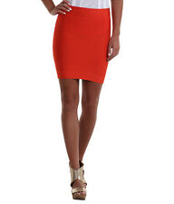 NWT BCBG Max Azria bandage red knit mini poppy red power skirt size XS - $118