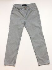 BODEN Ladies UK8 Ankle Skimmer Blue White Striped Summer Cropped Jeans Trousers