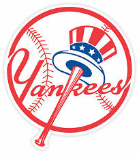 "Set of 2 New York Yankees Vinyl Sticker Decal for Cornhole Car 15"" Each"