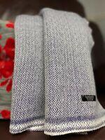 Pure Cashmere Blankets/throws, Handmade in NEPAL - Sapphire diamond weave