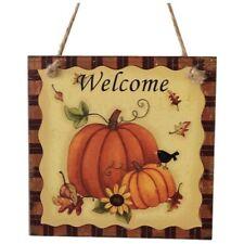 Wooden Hanging Plaque Sign Thanksgiving Door Hanger Wall Decorations Party K0T6