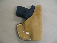Inside the Pocket Leather Concealment Holster For Glock 42 .380 CCW ITP