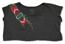 "PAUL MCCARTNEY ""GUITAR STRAP ON GREY"" CROP TOP SHIRT LADIES OS NEW OFFICIAL"