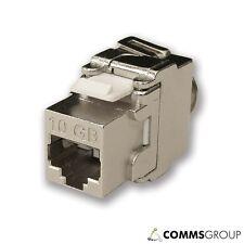 Snap In Tool Less Metal Cat6A Screened RJ45 Data Module Jack SX7100/CAT6A