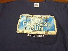 Bubba Gump Shrimp CO. Gatlinburg T-Shirt Large Distressed Look Run Forrest V3