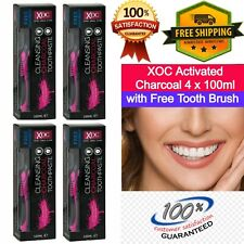 4 Pk Charcoal Activated Charcoal Teeth Tooth Whitening toothpaste mint flavor