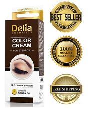 Delia Eyelash & Eyebrow Dye Tint Lash Kit Full Kit With Argan Oil Dark Brown