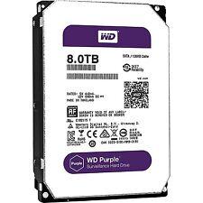 Western Digital 8TB PURPLE Surveillance Hard Drive SATA 6 Gbs 128MB WD80PUZ