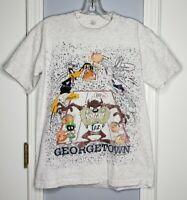 Vtg 90s Georgetown Hoyas Basketball Looney Tunes TShirt XL Made in USA Space Jam