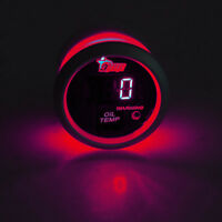 "2"" 52mm Black Car Truck Digital Red LED Oil Temp Temperature LED Gauge Kit W8"