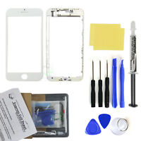 White iPhone 8 Front Screen Glass Lens Replacement Kit LOCA glue tool