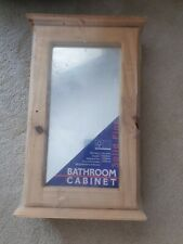 Bathroom wall cabinet, pine, with mirrored door