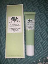 ORIGINS A Perfect Word SPF 20 - Age-Defense Eye Cream w/White Tea .5 oz   - NEW