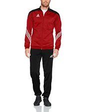 Adidas Formación traje pantalones Pantalón chaqueta Fútbol negro rojo XL