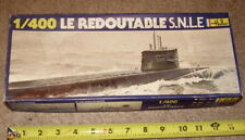 VINTAGE HELLER 1/400 MODEL LE REDOUTABLE Nuclear Ballistic Missile Submarine
