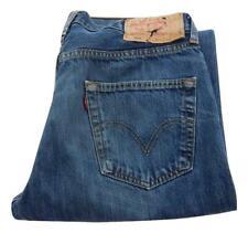 Mens Levi Strauss 501 Straight Leg Jeans Waist 34 Leg 34 Button Fly (M7520)
