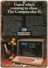 "Compucolor II Vintage Microcomputer Ad 10"" x 7"" Reproduction Metal Sign D77"