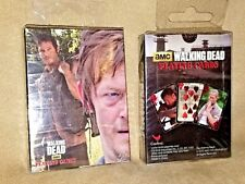 amc THE WALKING DEAD PLAYING CARDS TV SERIES 2 PACKS NEW IN PACKAGE 2013