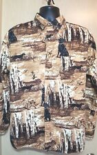 Field Tested Outdoor Life Men's M Brown Shirt Black Labrador Duck Hunting Shirt