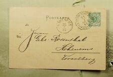 DR WHO 1895 GERMANY BODENSEE PAQUEBOT SHIP POSTCARD TO AUSTRIA  f29111