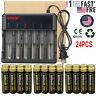Lot 18650 Battery 6000mAh 3.7V Li-ion Rechargeable Batteries Smart Charger US