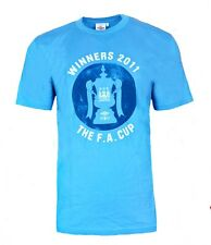 Mens XL Umbro MANCHESTER CITY Winners 2011 T Shirt Retro Top Soccer Blue MAN AM