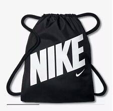 Nike Graphic Kids' Gymsack Black White Drawstring (Kid's Boys Girls Bag) BNWT UK